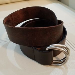 JCREW BROWN NO HOLE LEATHER BELT